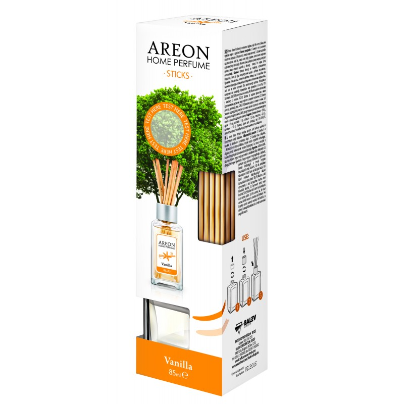 AREON Home Perfume Sticks 85 ml 'Vanilla' | Buy Home and Office Air Fresheners Online